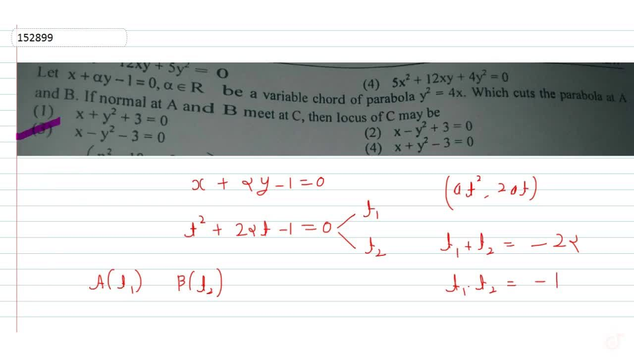 Solution for Let x+alpha y-1=0,  alpha in R be a variable c