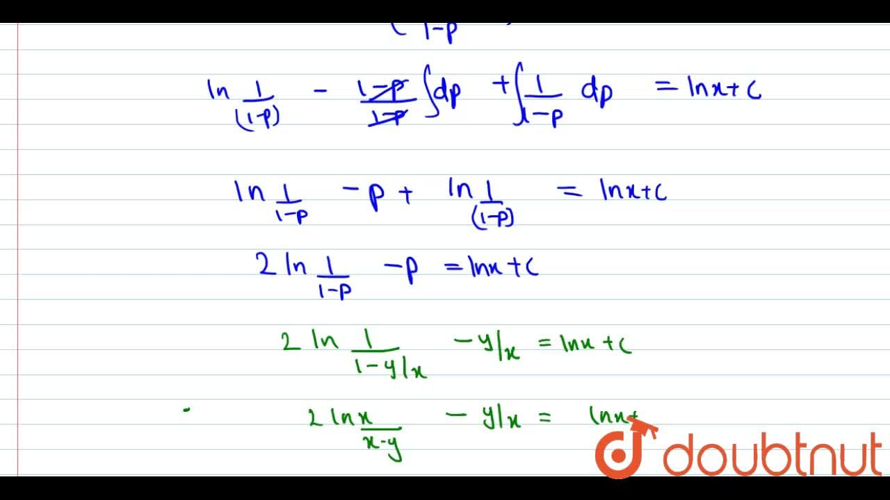 Solve the following differential equations <br> (dy),(dx)=(x^(2)+y^(2)),(x^(2)+xy)