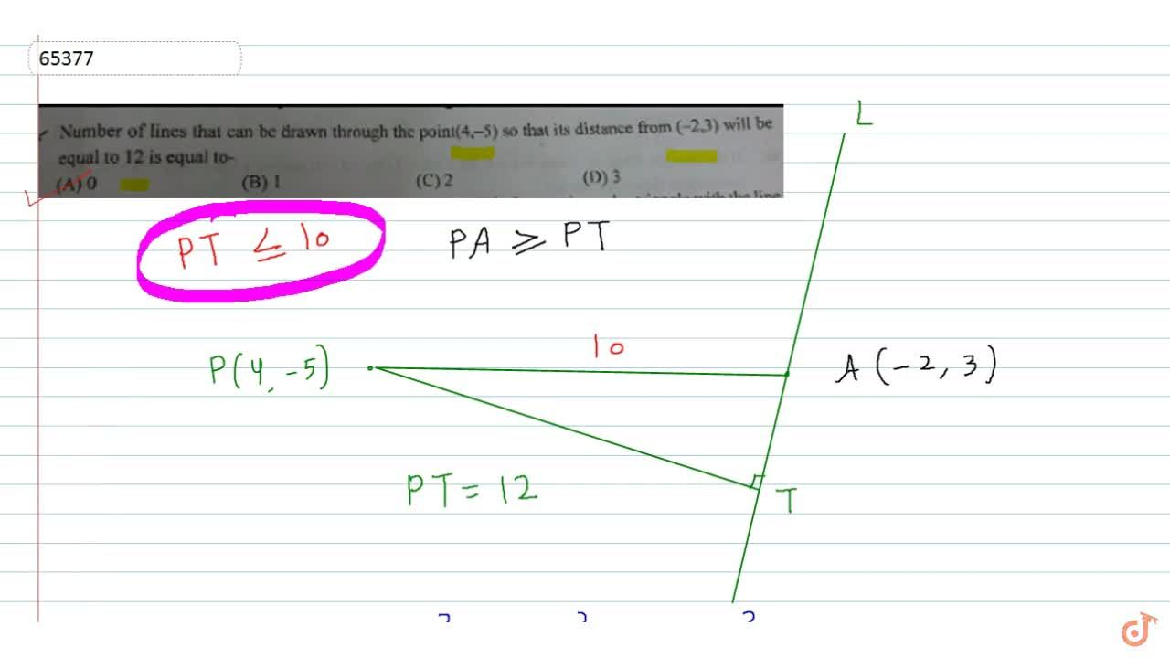 Solution for  Number of lines that can be drawn through the poi