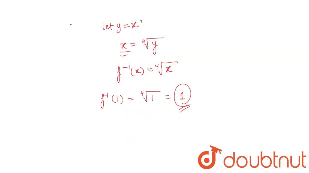 Solution for If f: C->R is defined by f(x)=x^4 , write f^(