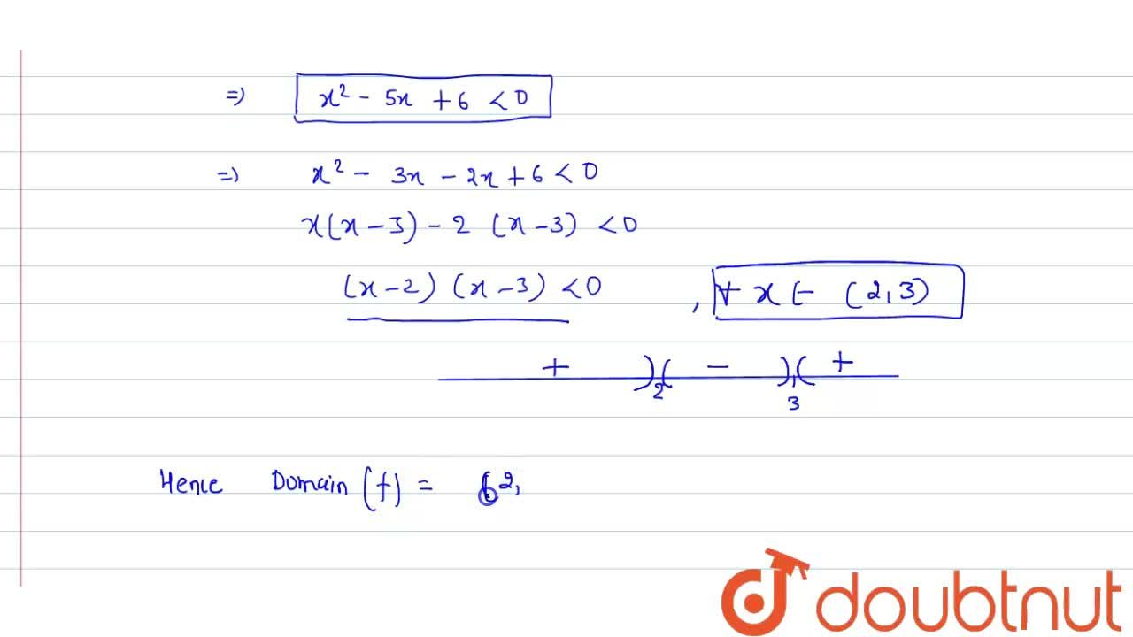 Solution for Find the domain of definitions of the following fu