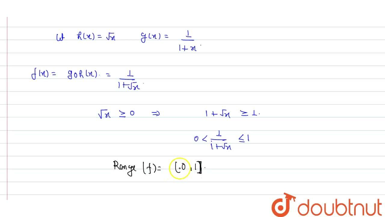 Solution for Find the range of each of the following functions: