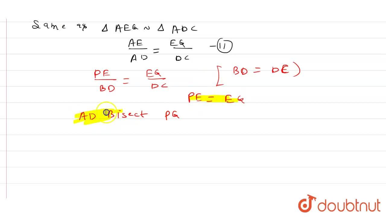 Solution for In a triangle  A B C , let P a n d Q be points