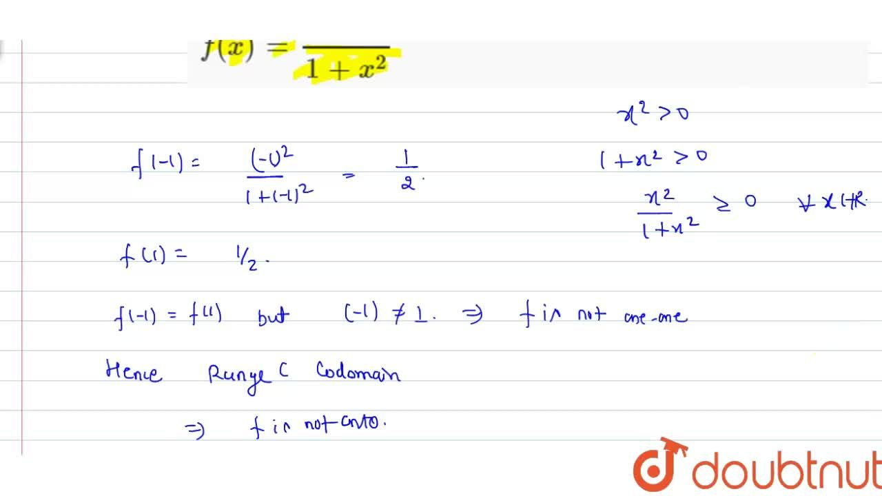 Solution for Classify the following function f(x) defined in