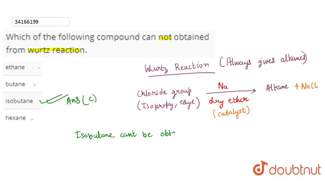 Solution for Which of the following compound can not obtained f