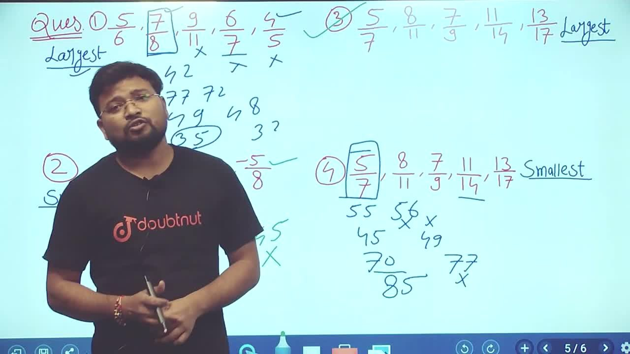 Solution for How To Compare Fractional Numbers | Maths Short Tr