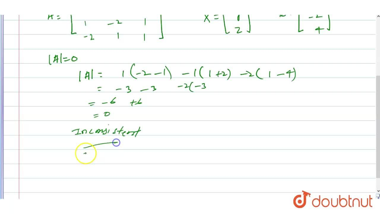 Solution for Show that following   system of linear equations