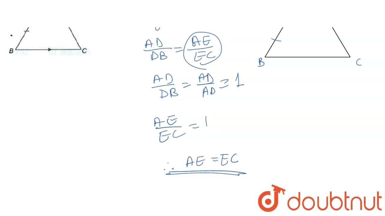 Solution for Prove using similar triangles, that a line drawn t