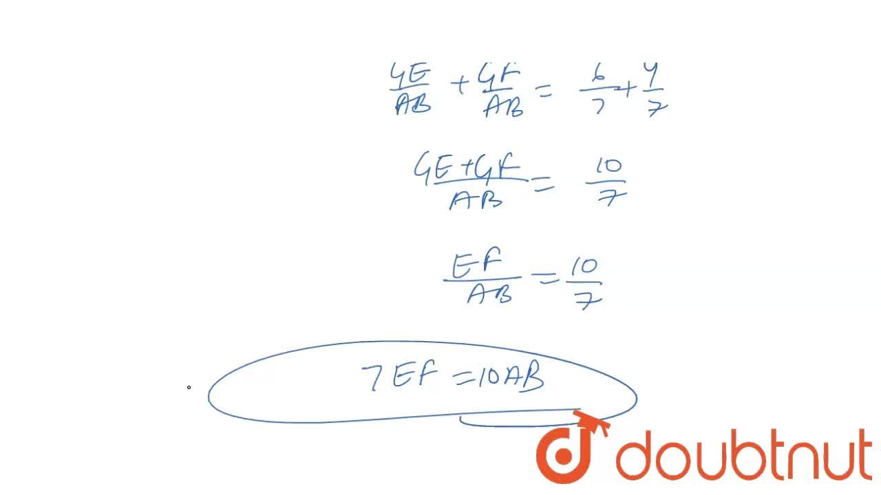 Solution for In trapezium ABCD. AB||DC and DC = 2AB. A line seg