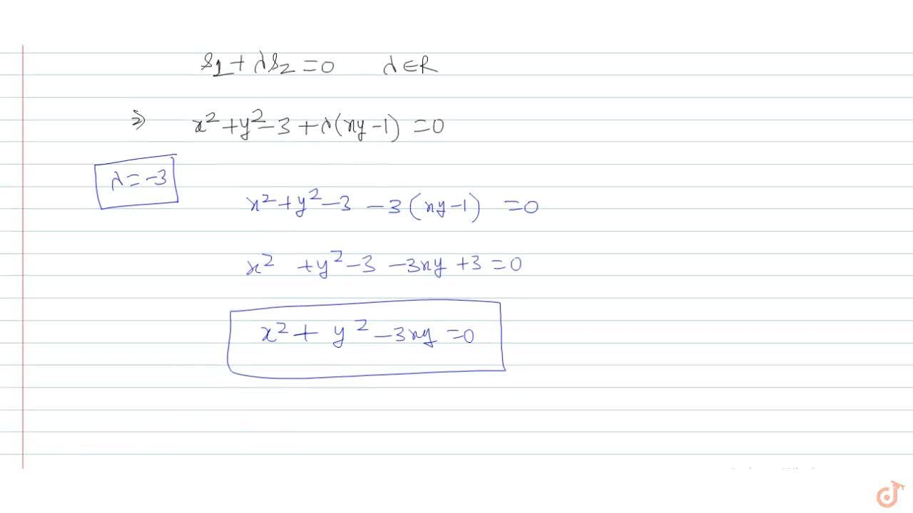 Solution for Suppose the circle having equation x^2+y^2=3 int