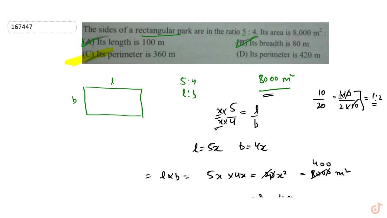 Solution for  Q.54 The sides of a rectangular park are in the r