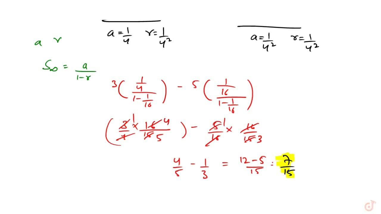 Solution for Find the sum of the series upto infinite terms 3,