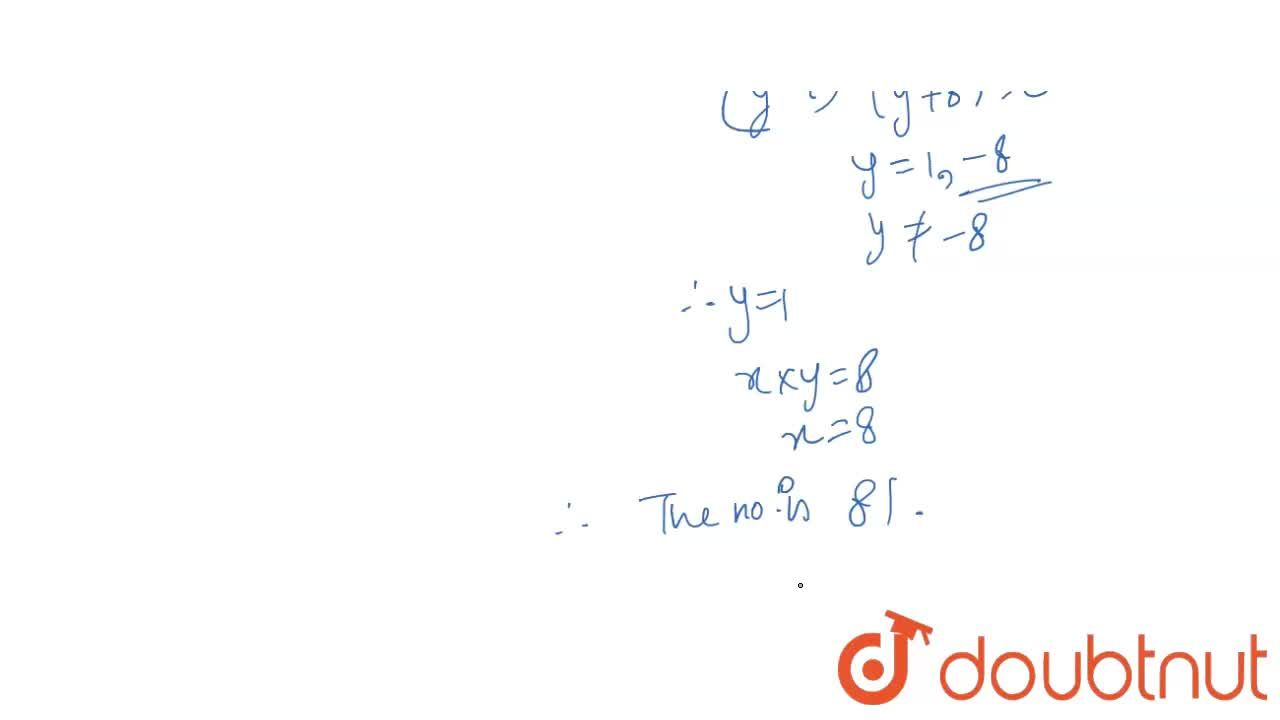 Solution for A two digit number is such that the product of its