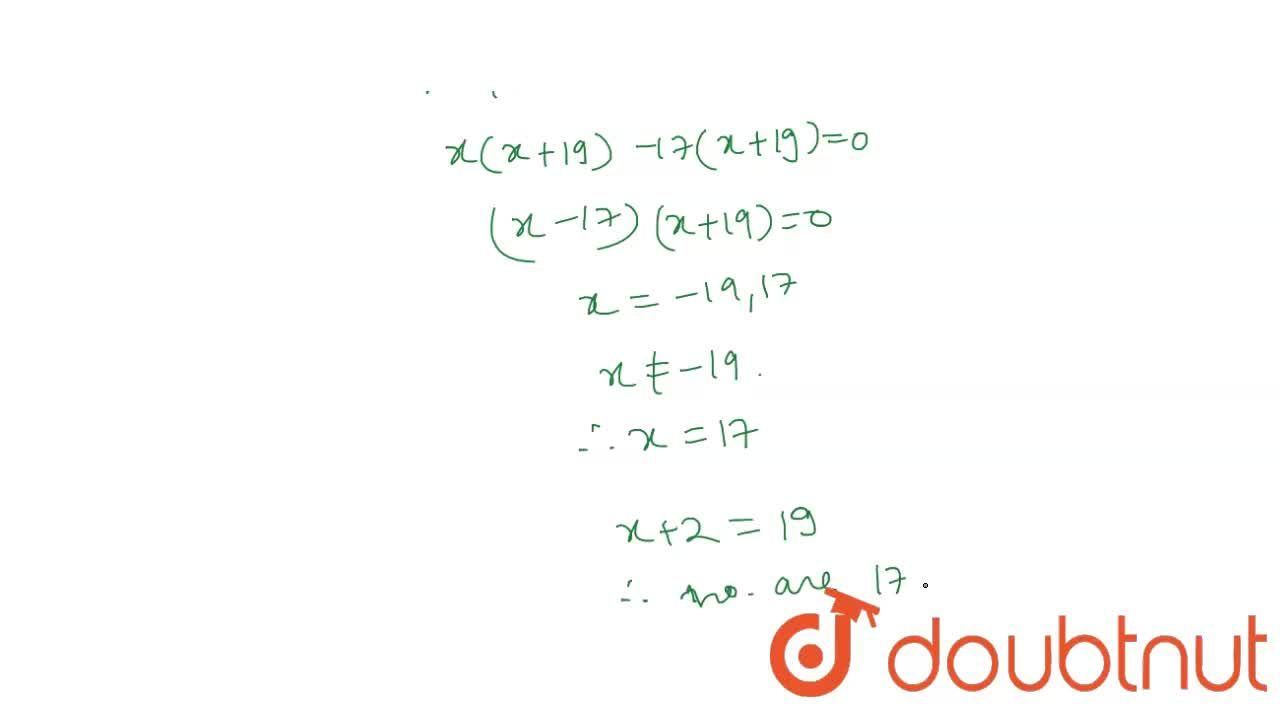 Solution for Find two consecutive odd natural numbers whose pro