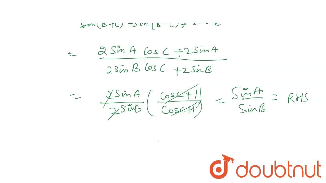 Solution for Prove that: <br> (sin(A-C)+2sinA+sin(A+C)),(sin(B