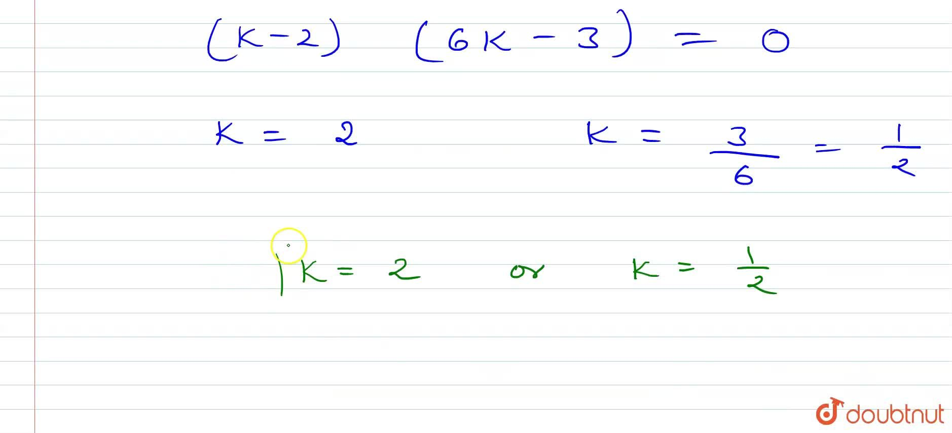 Solution for (i) If the points (1,4),(3,-2)and (k,1)B(3k,2k+3)