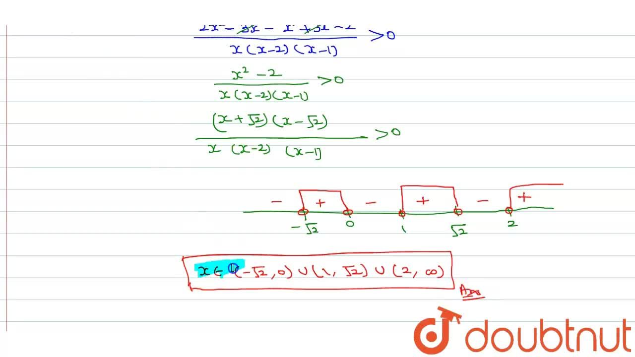 Solution for Solve (1),(x-2)+(1),(x-1) gt (1),(x).
