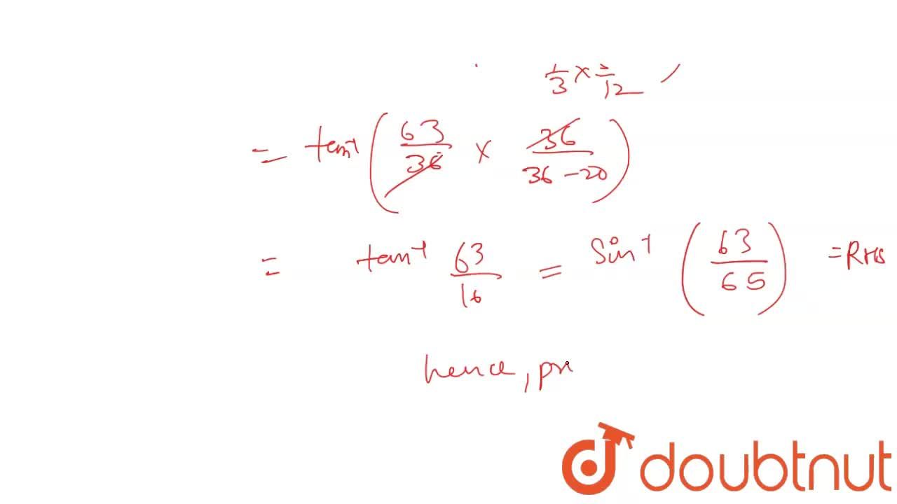 Solution for Prove that :  cos^(-1).(3),(5)+ cos^(-1).(12),(13