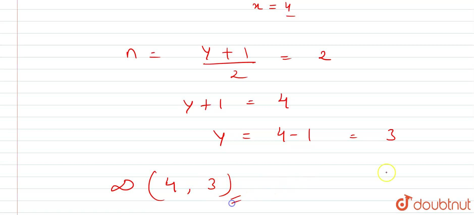 Solution for The co-ordinates of three consecutive vertices of