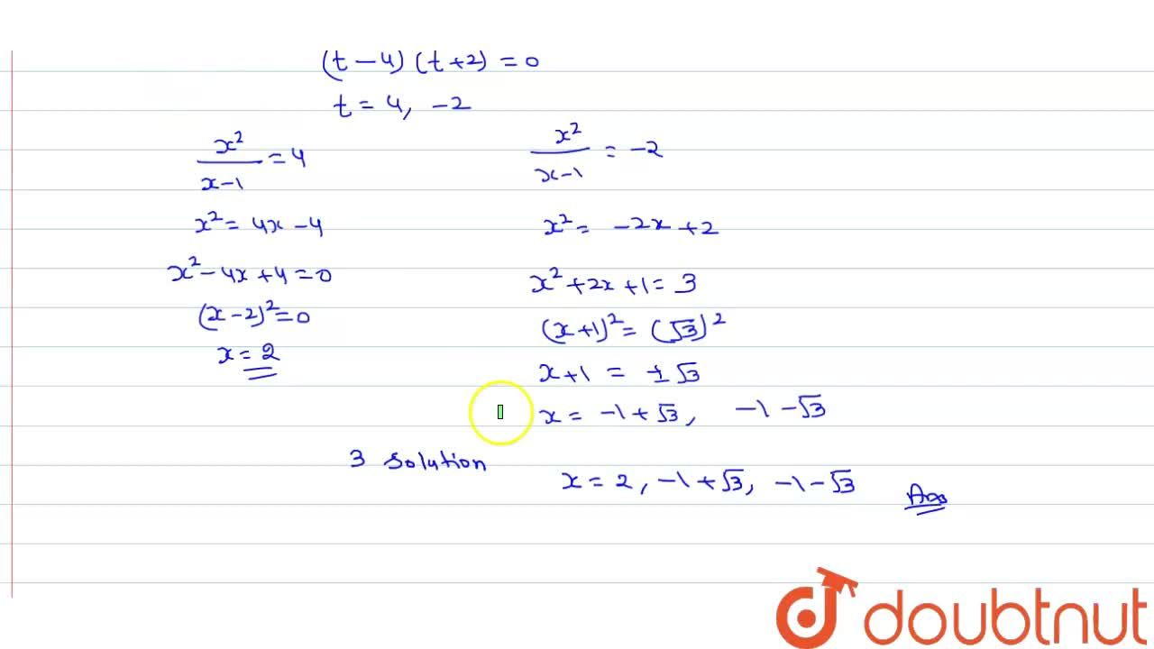 Solution for Number of distinct real solutions of the equation