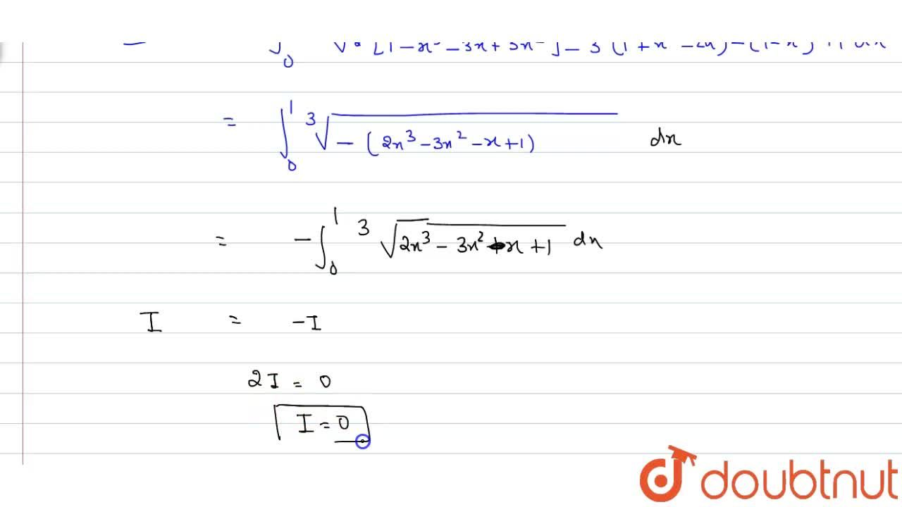 Find the value of int_(0)^(1)root(3)(2x(3)-3x^(2)-x+1)dx.