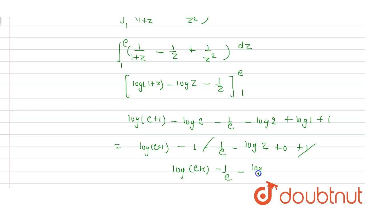 Solution for Evaluate int_(0)^(1)(e^(-x)dx),(1+e^(x))