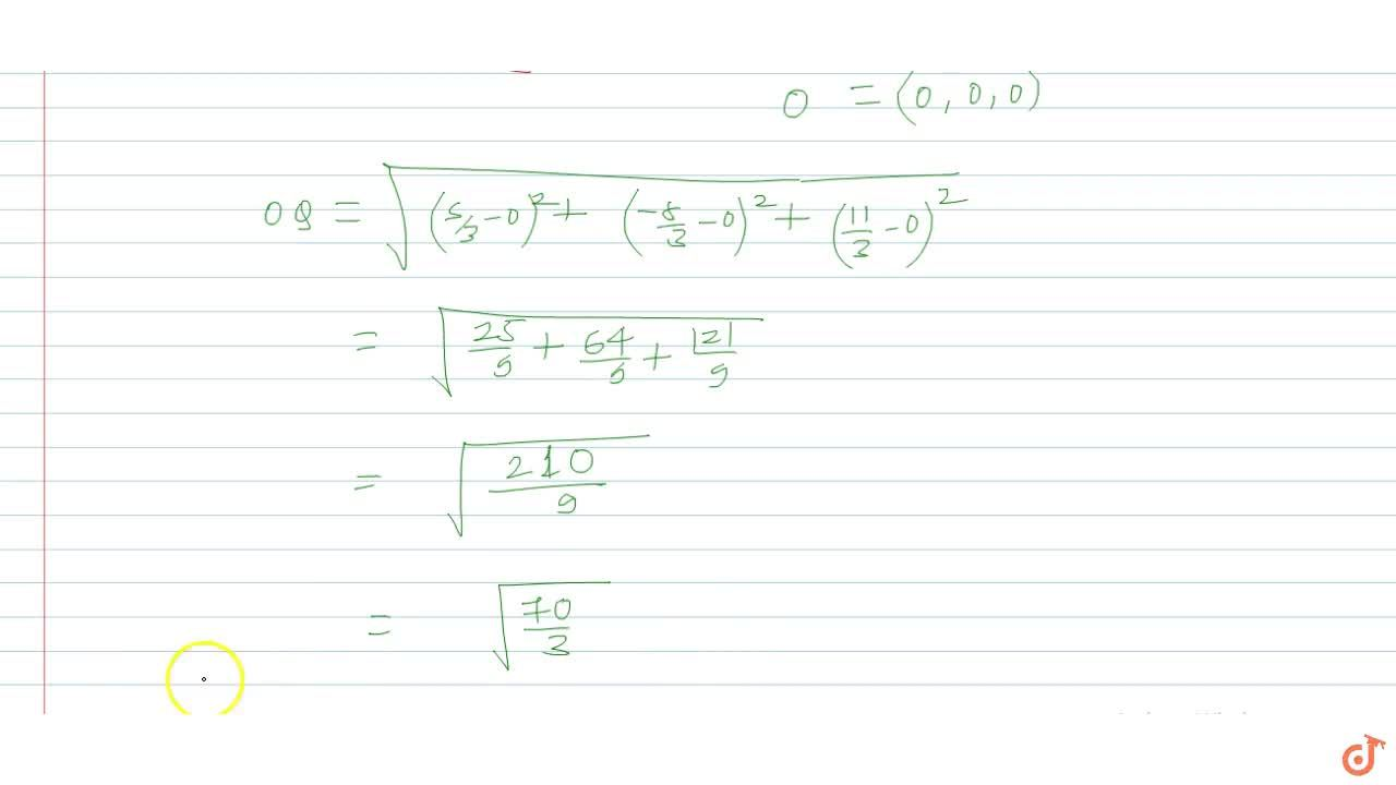 Solution for Q is the image of point P(1, -2, 3) with respect t