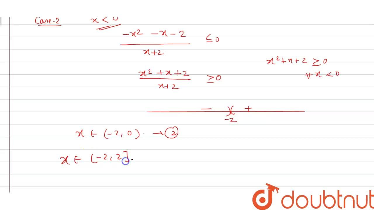 Solution for Solve (x),(x+2) le (1),(|x|)