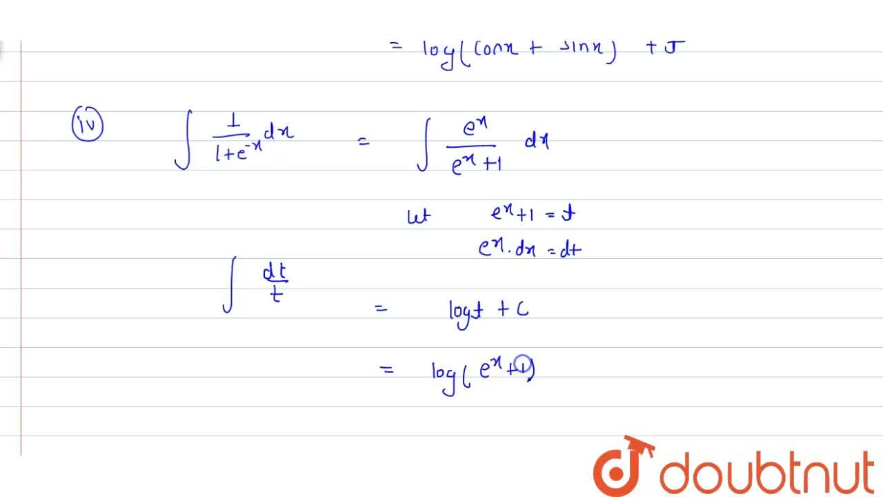 Solution for Ecaluate the following: <br> (i)  int(sec^(2)x),(