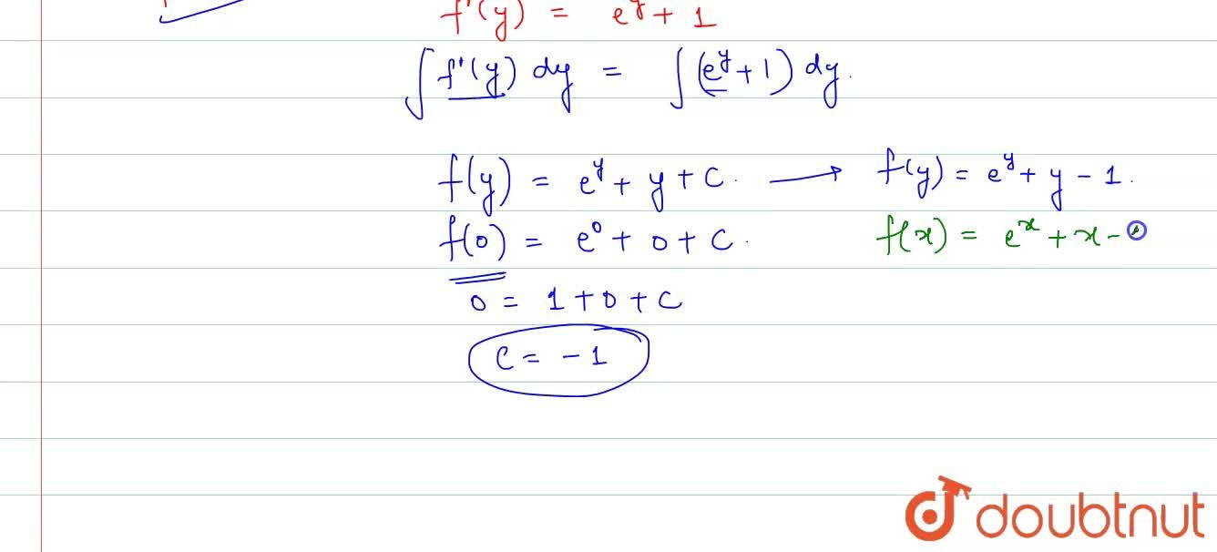 Find function f(x) which is differentiable and satisfy the relation f(x+y)=f(x)+f(y)+(e^(x)-1)(e^(y)-1)AA x, y in R, and f'(0)=2.