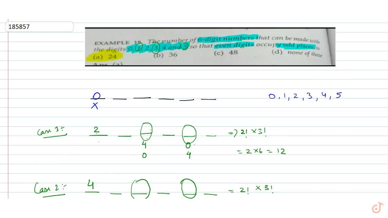 Solution for The number of 6 digit numbers that can be made wit