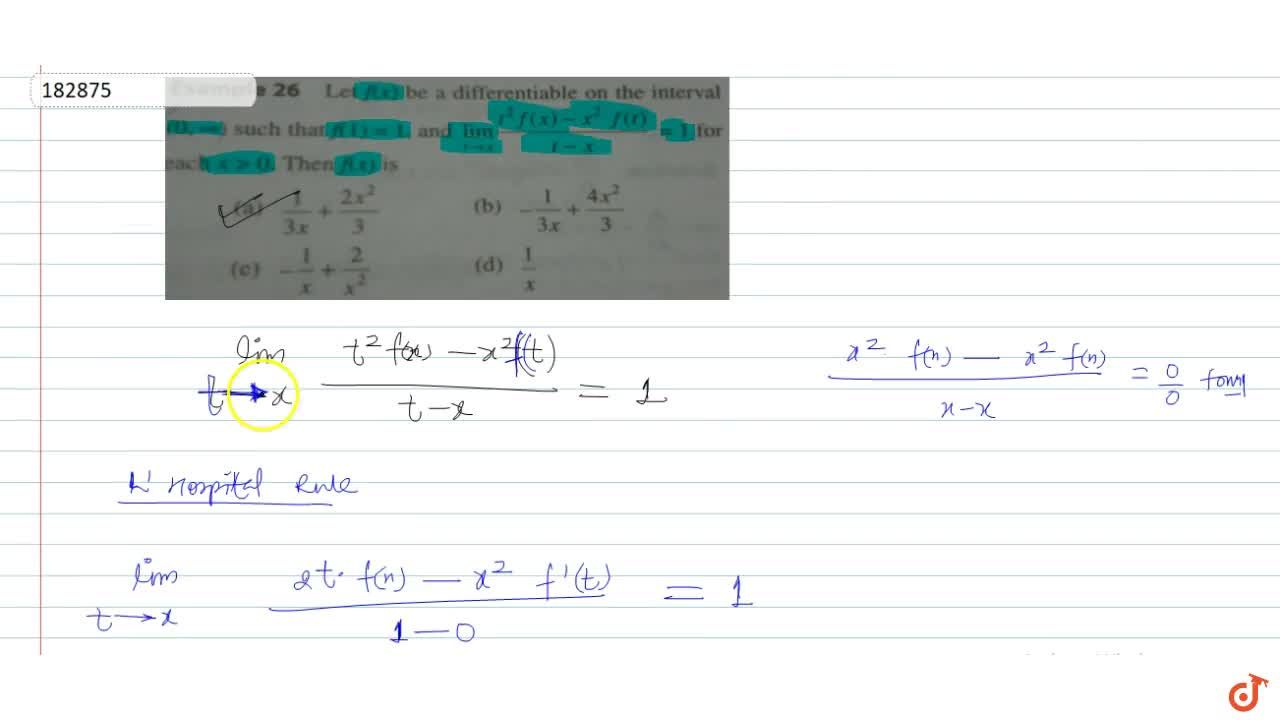 Solution for Let f(x) be differentiable on the interval (0,o