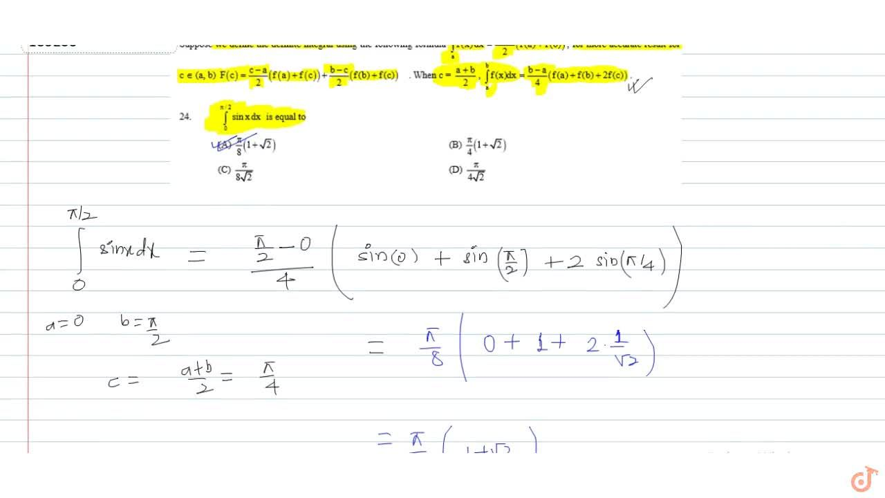Solution for Suppose we define the definite integral using the
