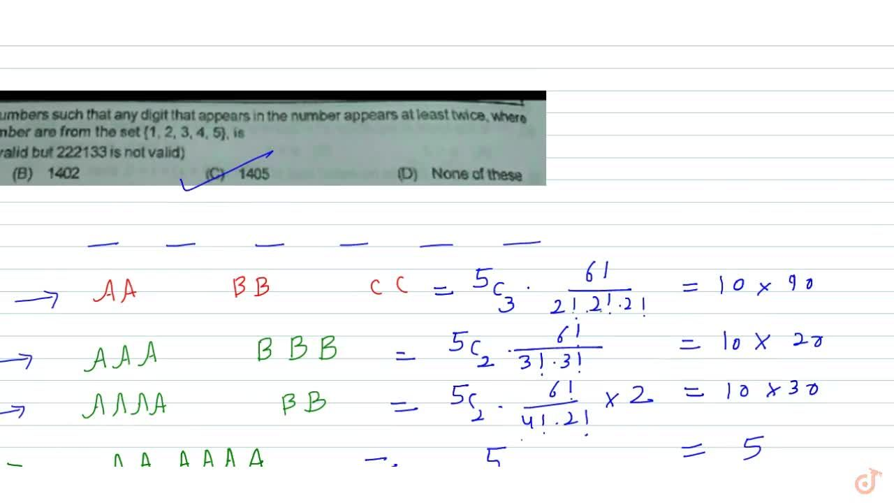 Solution for Number of six-digit numbers such that any digit th