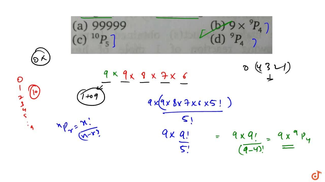 Solution for  The number of all numbers having5 digits, with di
