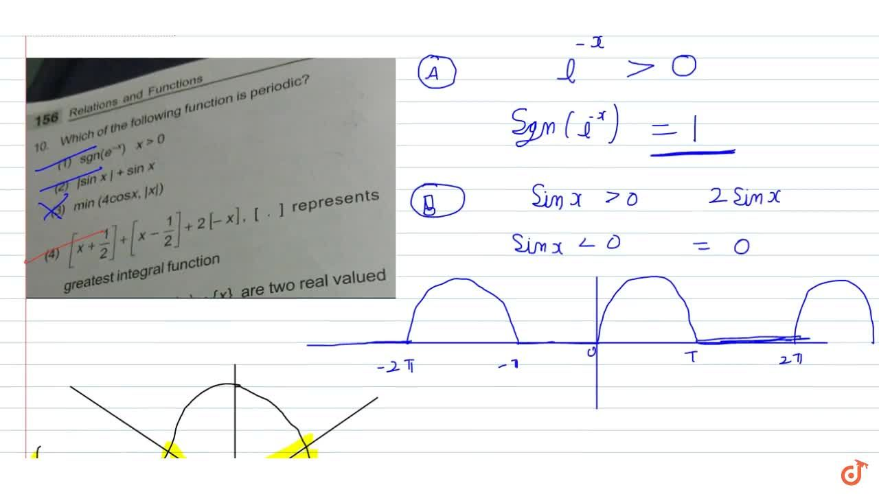 Solution for  Which of the following function is periodic?