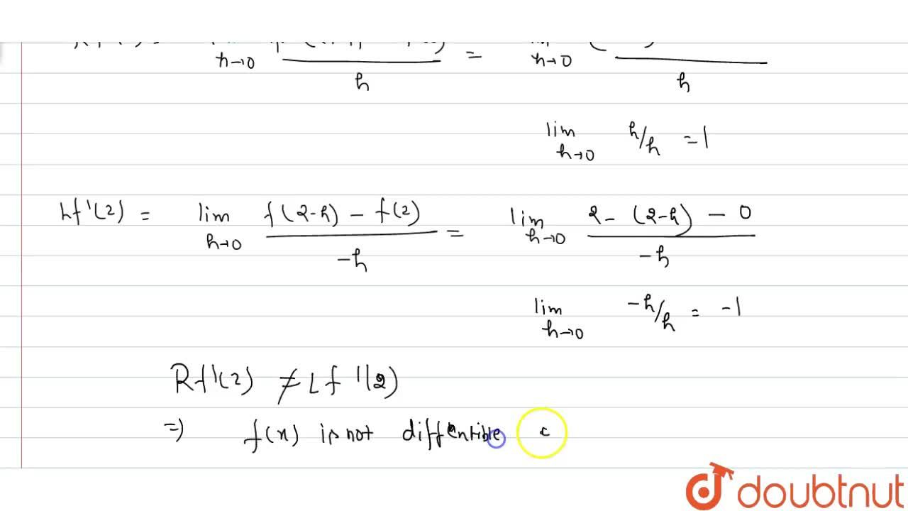 Solution for Show that the function f(x)=|x-2| is continuous bu