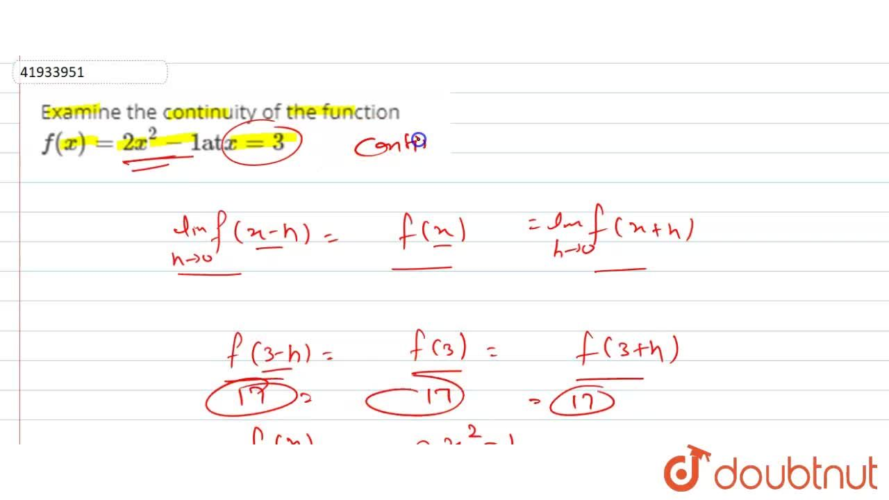 Solution for Examine the continuity of the function f(x) = 2x^