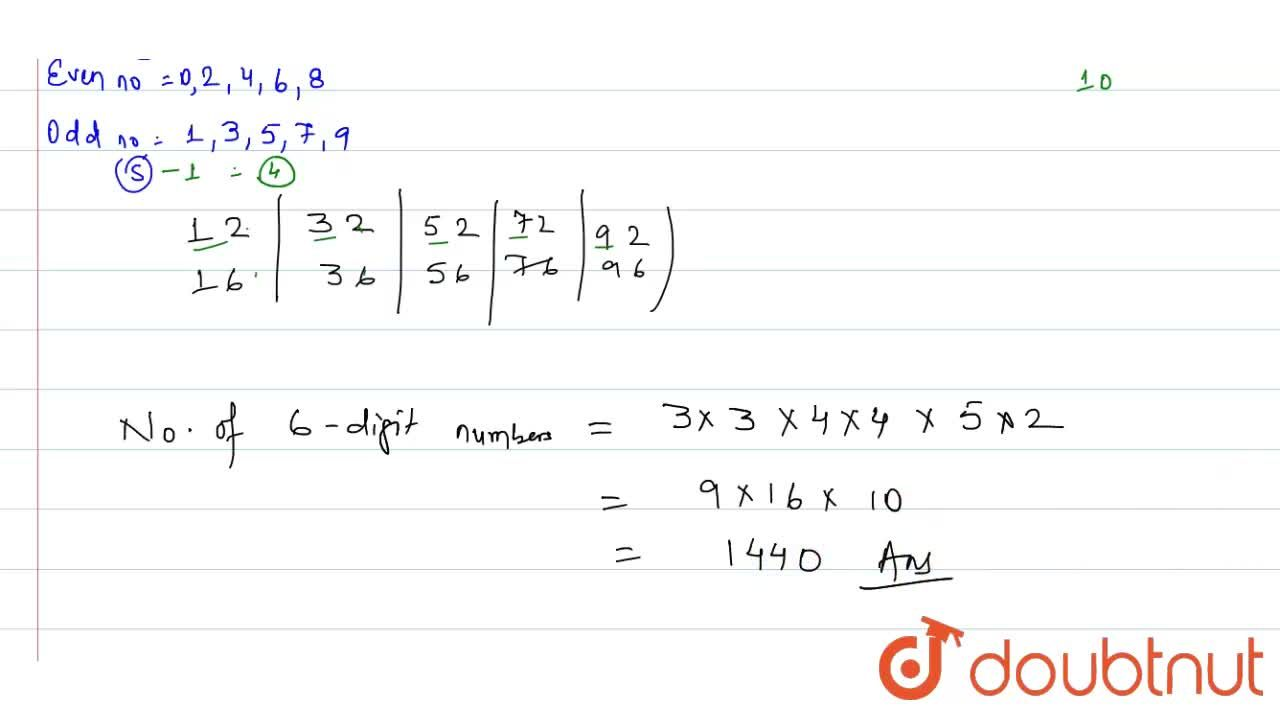 Solution for How many six-digit numbers are there in which no d