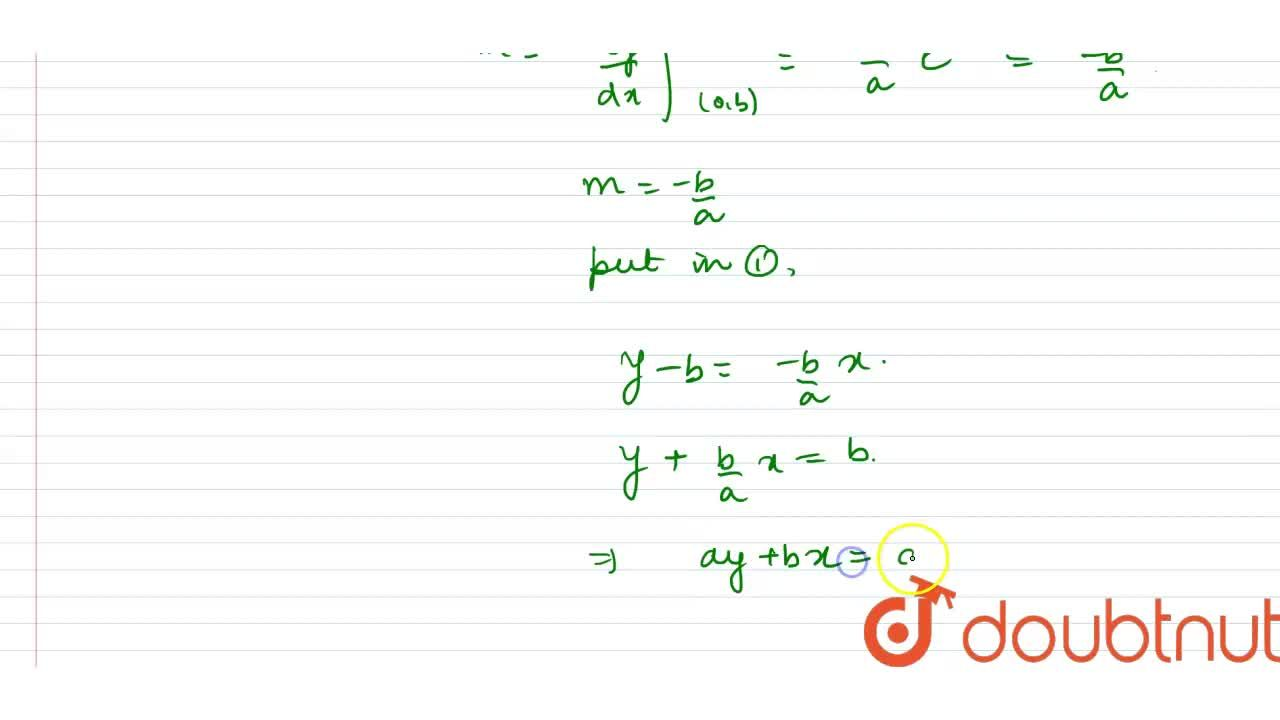 Solution for Find the equation of tangent of tangent of the cur