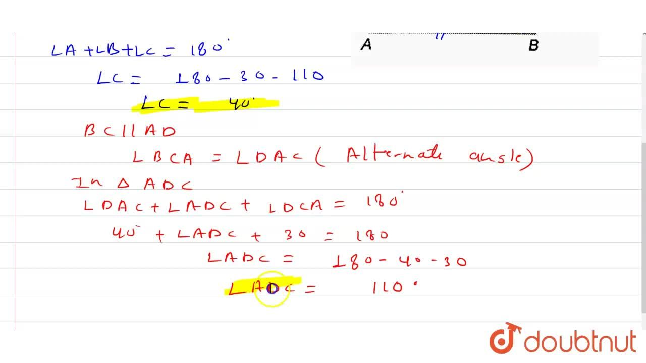 """Solution for In the figure, bar(AB)"""" 