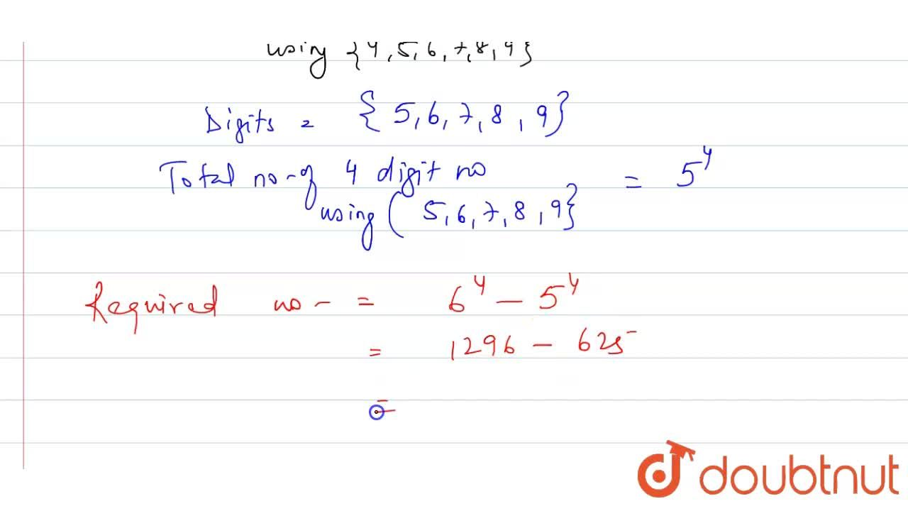 Solution for The number of four-digit numbers that can be forme