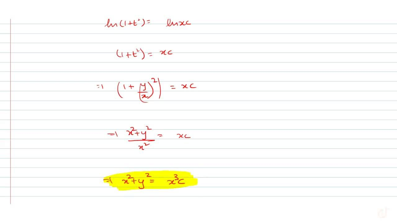 Show that the differential equation 2xy (dy),(dx) = x^2+3y^2  is homogeneousand solve it.