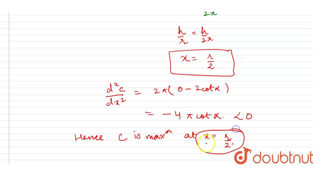 Solution for Prove that the cylinder inscribed in a right circu