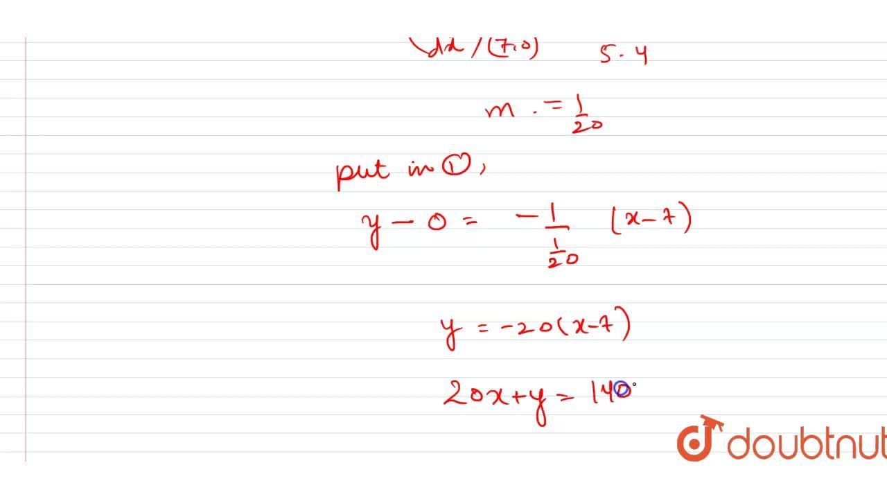 Find the equation of normal to the curve y(x-2)(x-3)-x+7=0 at that point at which the curve meets X-axis.