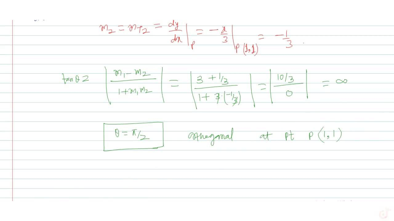 Solution for Find the angle of intersection of curves y = x^3