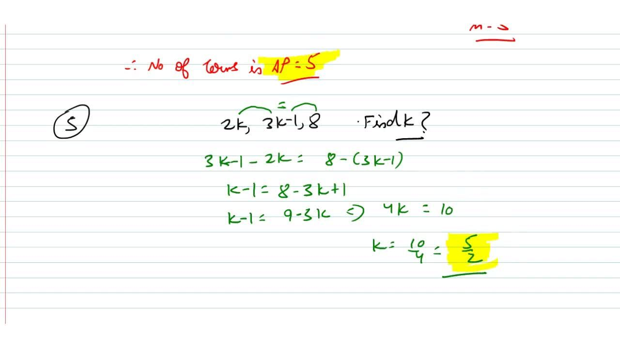 Solution for   4. If the first and last terms of an A.P. are 1