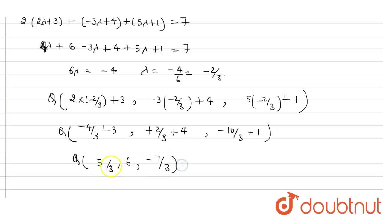 Solution for Find the equation of a plane passing through the p