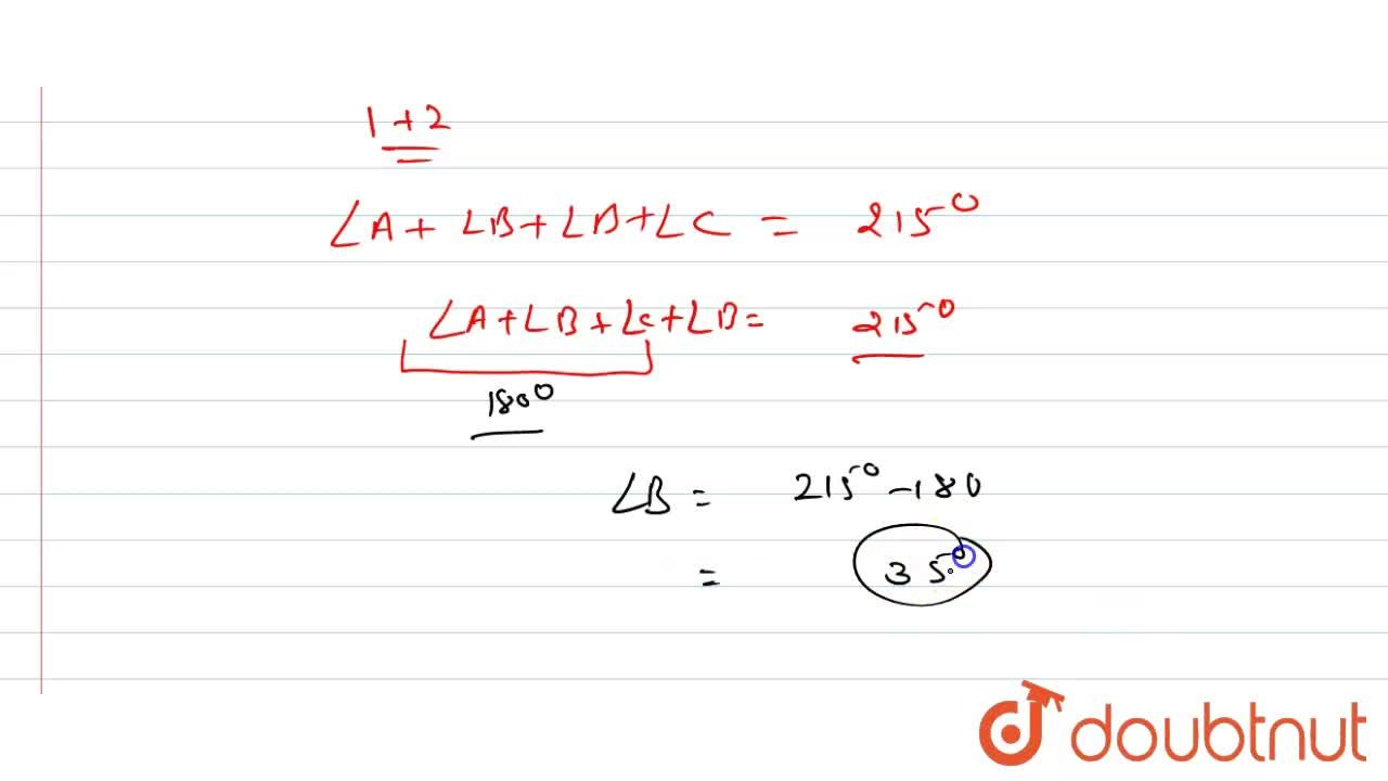 Solution for यदि  DeltaABC, ,_A +,_B 75^(@)  और  ,_B +,_C =