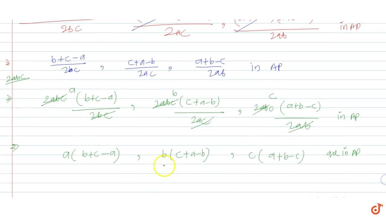 Solution for If  (b^2+c^2-a^2),(2b c),(c^2+a^2-b^2),(2c a),(a^